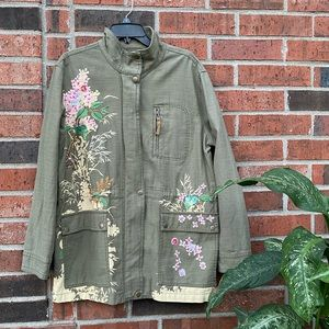 Anthropologie Embellished & Sequin Military Anorak